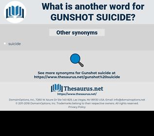 gunshot suicide, synonym gunshot suicide, another word for gunshot suicide, words like gunshot suicide, thesaurus gunshot suicide