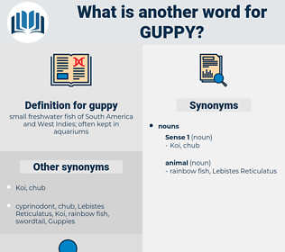 guppy, synonym guppy, another word for guppy, words like guppy, thesaurus guppy