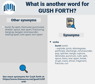 gush forth, synonym gush forth, another word for gush forth, words like gush forth, thesaurus gush forth