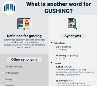 gushing, synonym gushing, another word for gushing, words like gushing, thesaurus gushing