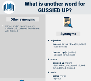 gussied up, synonym gussied up, another word for gussied up, words like gussied up, thesaurus gussied up