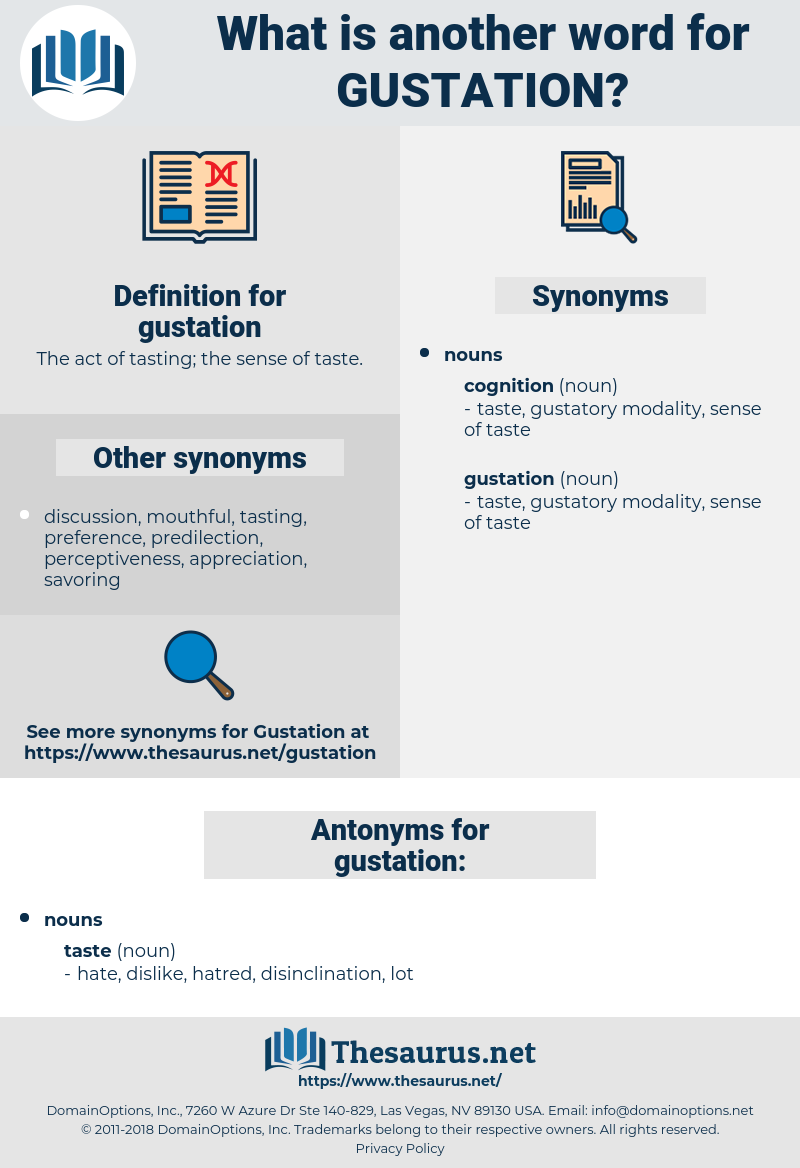 gustation, synonym gustation, another word for gustation, words like gustation, thesaurus gustation