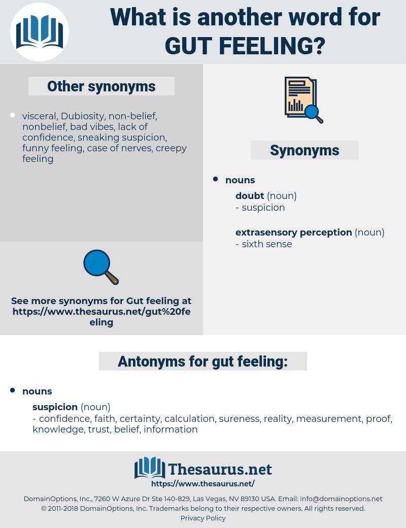 gut feeling, synonym gut feeling, another word for gut feeling, words like gut feeling, thesaurus gut feeling