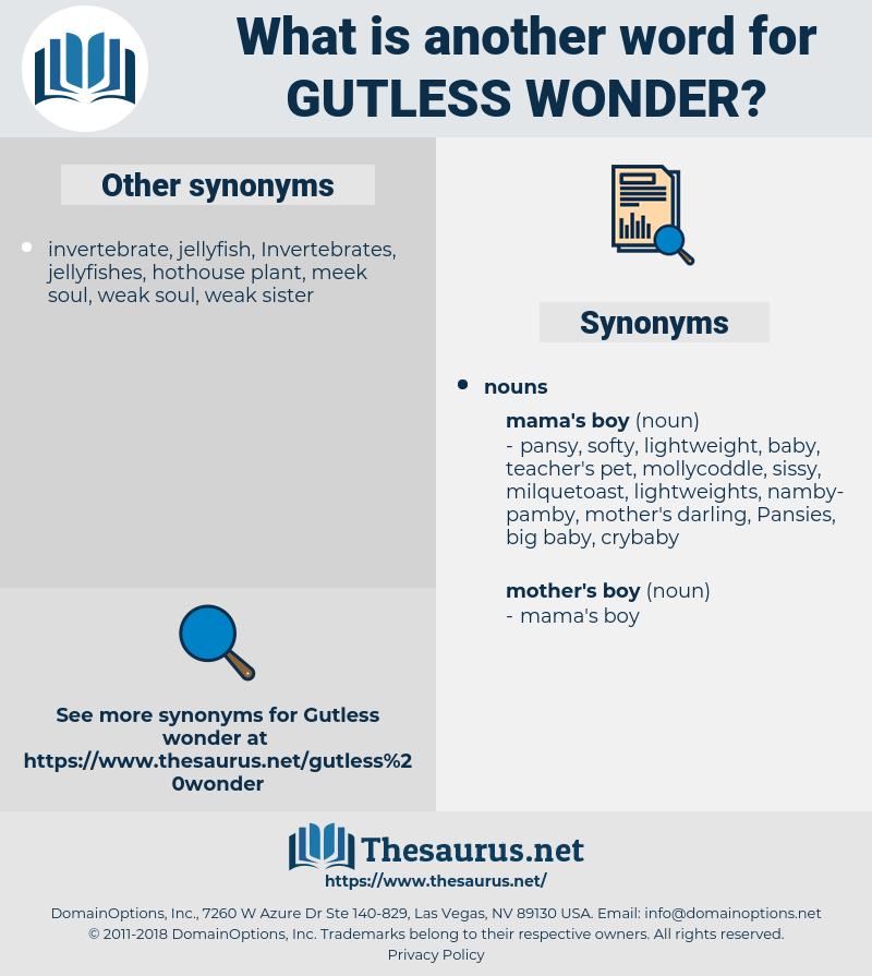 gutless wonder, synonym gutless wonder, another word for gutless wonder, words like gutless wonder, thesaurus gutless wonder