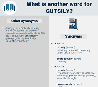 gutsily, synonym gutsily, another word for gutsily, words like gutsily, thesaurus gutsily