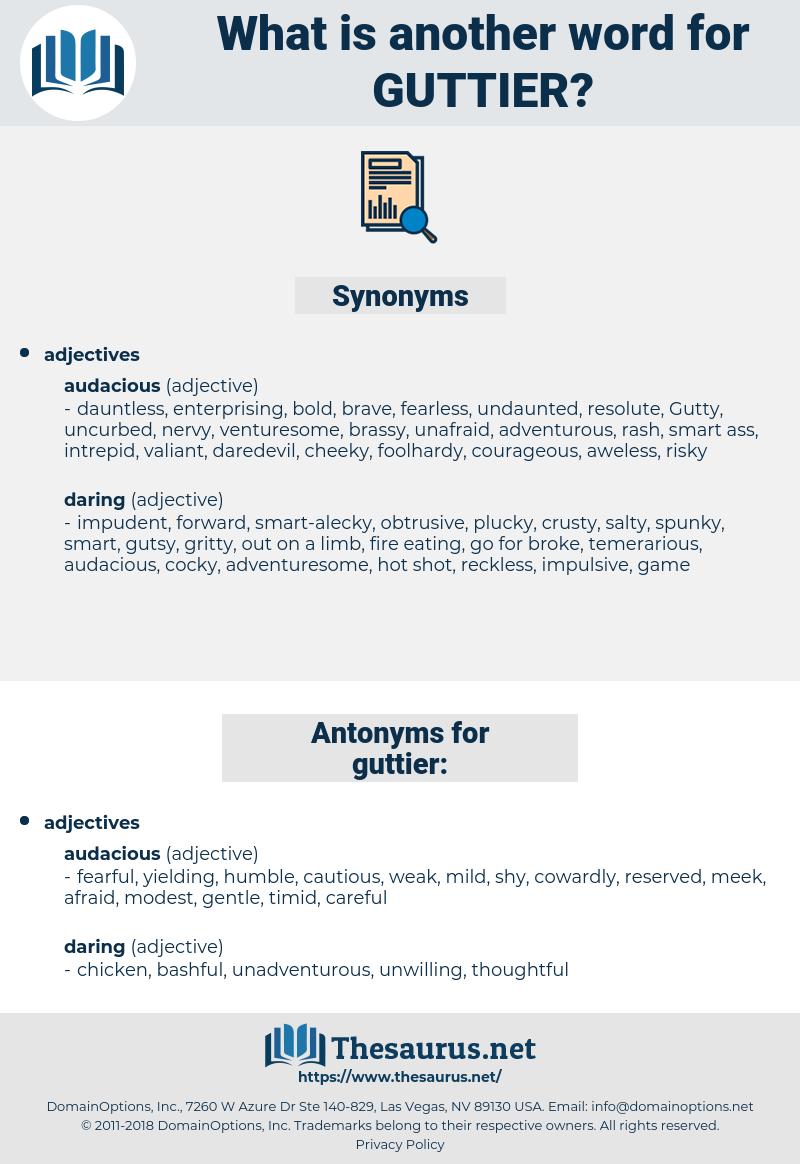 guttier, synonym guttier, another word for guttier, words like guttier, thesaurus guttier