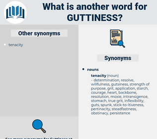 guttiness, synonym guttiness, another word for guttiness, words like guttiness, thesaurus guttiness