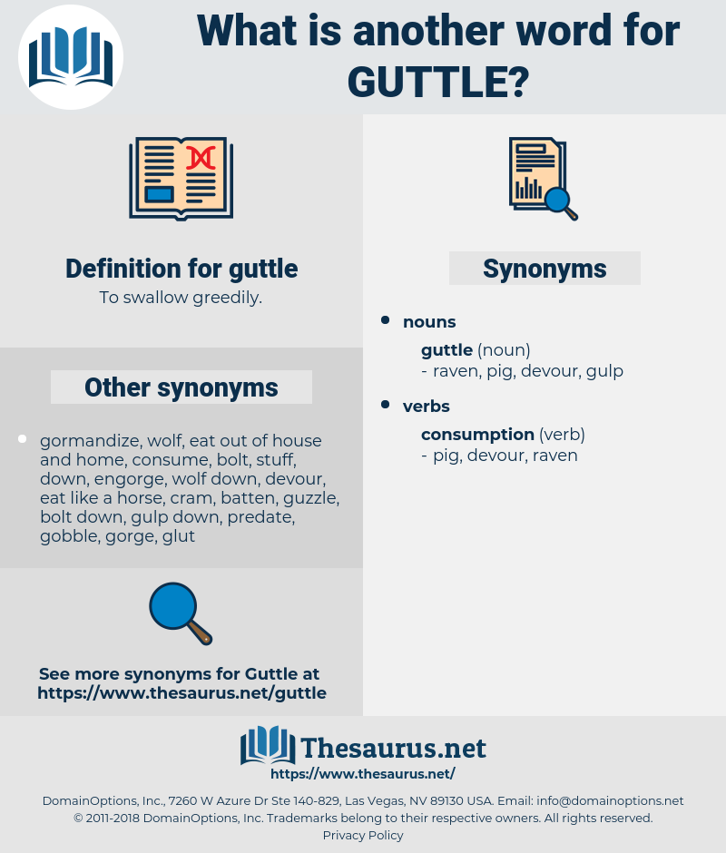 guttle, synonym guttle, another word for guttle, words like guttle, thesaurus guttle