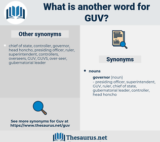GUV, synonym GUV, another word for GUV, words like GUV, thesaurus GUV