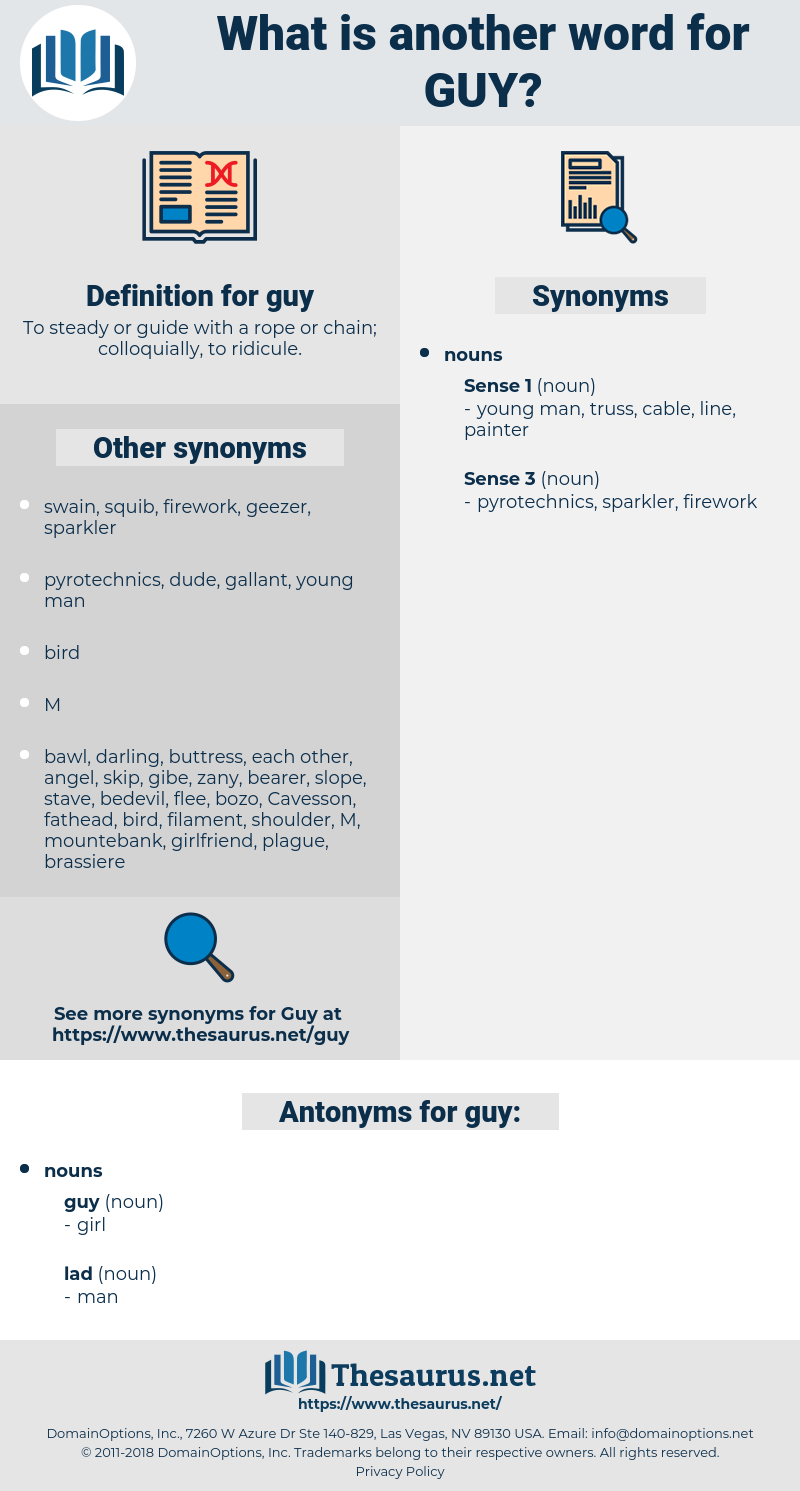 guy, synonym guy, another word for guy, words like guy, thesaurus guy
