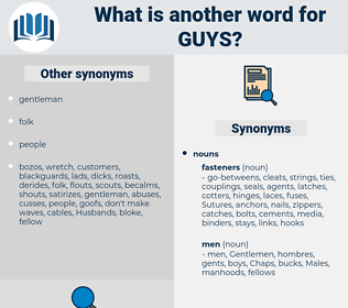 guys, synonym guys, another word for guys, words like guys, thesaurus guys