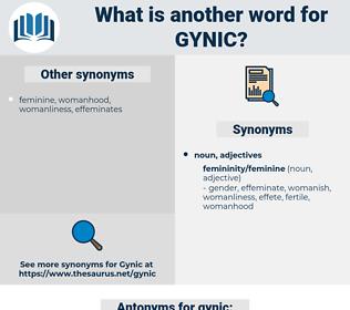 gynic, synonym gynic, another word for gynic, words like gynic, thesaurus gynic