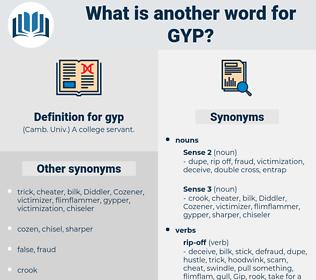gyp, synonym gyp, another word for gyp, words like gyp, thesaurus gyp