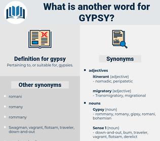 gypsy, synonym gypsy, another word for gypsy, words like gypsy, thesaurus gypsy