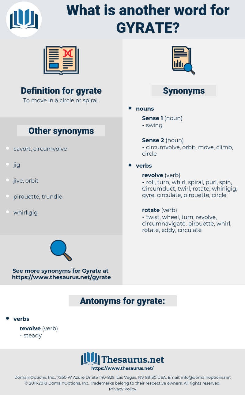 gyrate, synonym gyrate, another word for gyrate, words like gyrate, thesaurus gyrate
