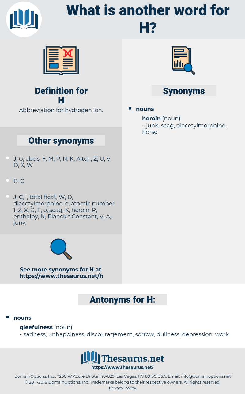 H, synonym H, another word for H, words like H, thesaurus H