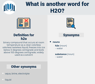 h2o, synonym h2o, another word for h2o, words like h2o, thesaurus h2o