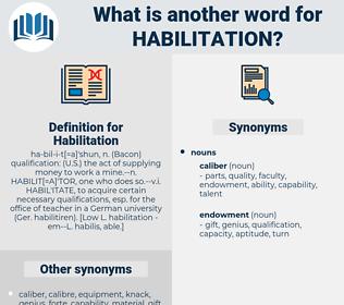 Habilitation, synonym Habilitation, another word for Habilitation, words like Habilitation, thesaurus Habilitation