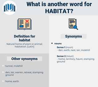 habitat, synonym habitat, another word for habitat, words like habitat, thesaurus habitat