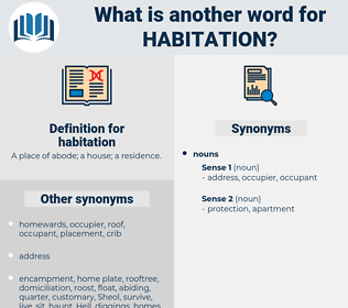 habitation, synonym habitation, another word for habitation, words like habitation, thesaurus habitation