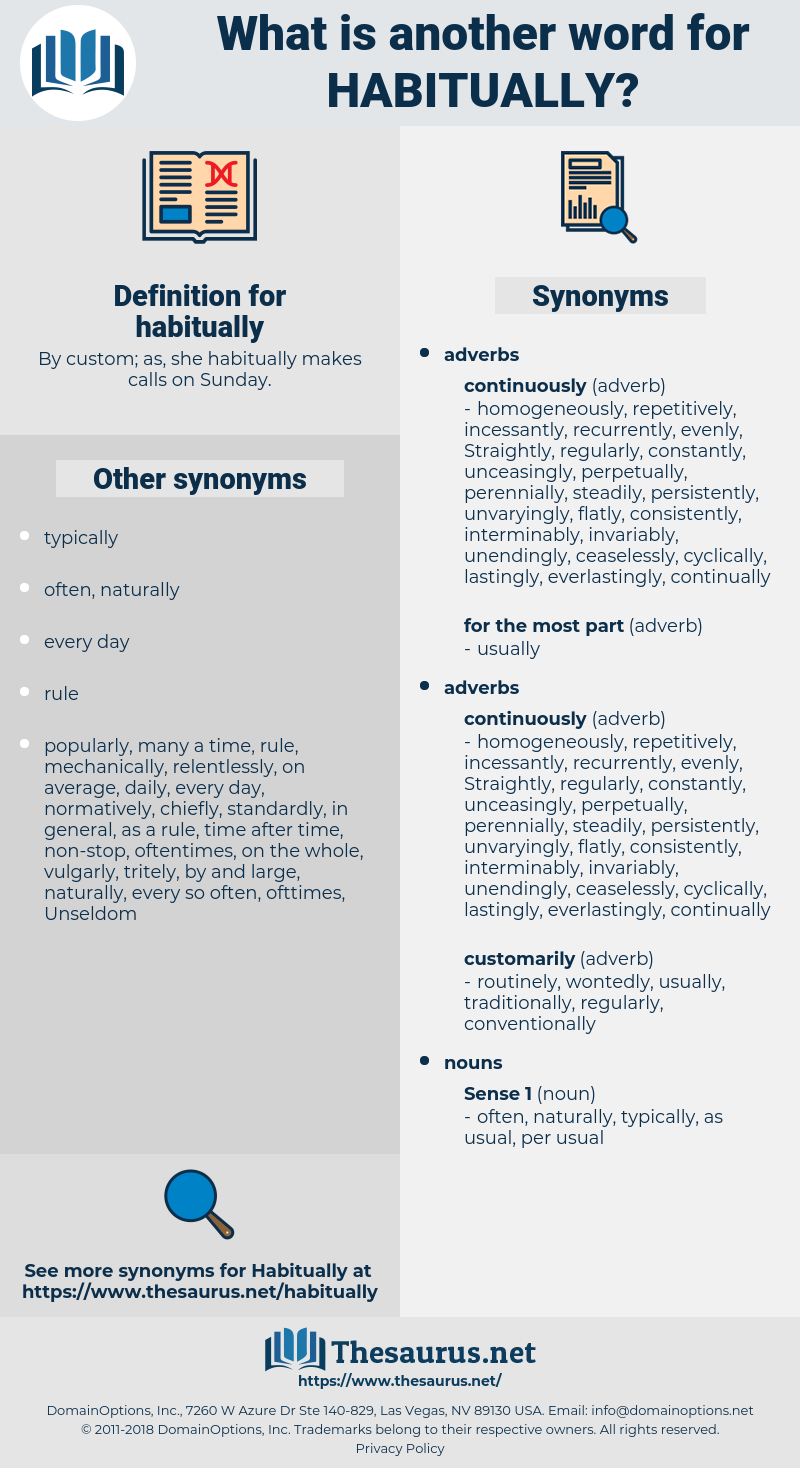 habitually, synonym habitually, another word for habitually, words like habitually, thesaurus habitually