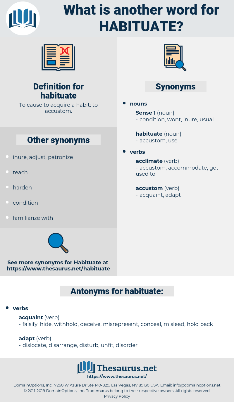 habituate, synonym habituate, another word for habituate, words like habituate, thesaurus habituate