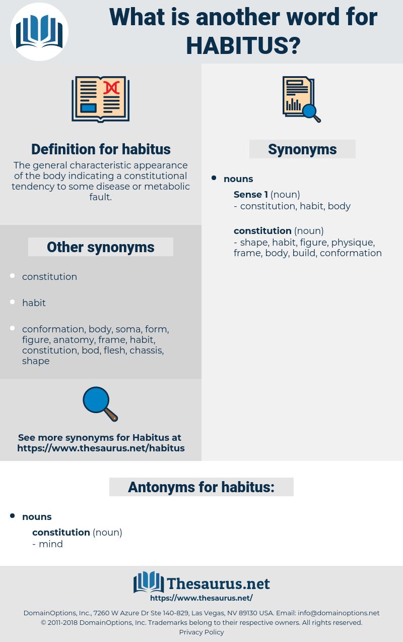 habitus, synonym habitus, another word for habitus, words like habitus, thesaurus habitus