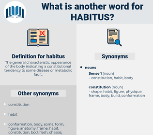 habitus, synonym habitus, another word for habitus, words like habitus, thesaurus habitus