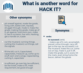 hack it, synonym hack it, another word for hack it, words like hack it, thesaurus hack it