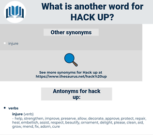 hack up, synonym hack up, another word for hack up, words like hack up, thesaurus hack up