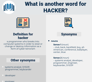 hacker, synonym hacker, another word for hacker, words like hacker, thesaurus hacker