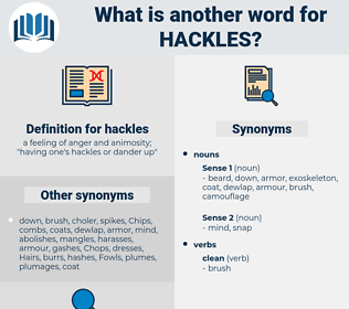 hackles, synonym hackles, another word for hackles, words like hackles, thesaurus hackles