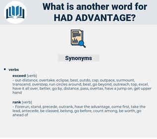 had advantage, synonym had advantage, another word for had advantage, words like had advantage, thesaurus had advantage