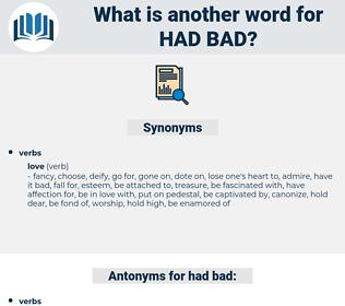 had bad, synonym had bad, another word for had bad, words like had bad, thesaurus had bad