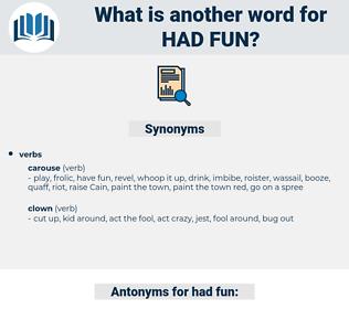 had fun, synonym had fun, another word for had fun, words like had fun, thesaurus had fun