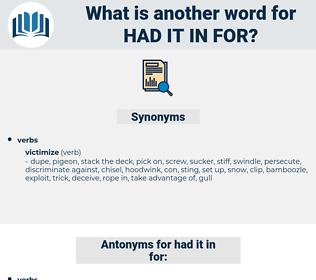 had it in for, synonym had it in for, another word for had it in for, words like had it in for, thesaurus had it in for