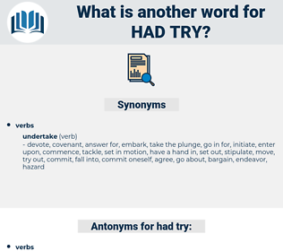 had try, synonym had try, another word for had try, words like had try, thesaurus had try
