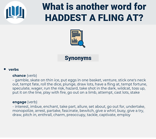haddest a fling at, synonym haddest a fling at, another word for haddest a fling at, words like haddest a fling at, thesaurus haddest a fling at