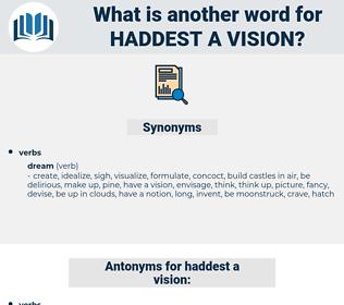 haddest a vision, synonym haddest a vision, another word for haddest a vision, words like haddest a vision, thesaurus haddest a vision
