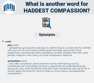haddest compassion, synonym haddest compassion, another word for haddest compassion, words like haddest compassion, thesaurus haddest compassion