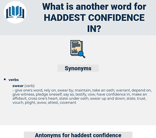 haddest confidence in, synonym haddest confidence in, another word for haddest confidence in, words like haddest confidence in, thesaurus haddest confidence in