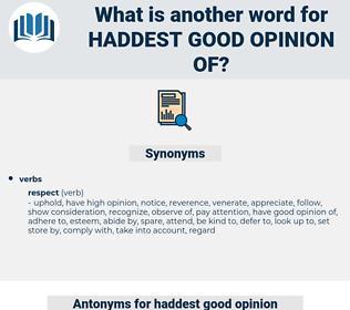 haddest good opinion of, synonym haddest good opinion of, another word for haddest good opinion of, words like haddest good opinion of, thesaurus haddest good opinion of