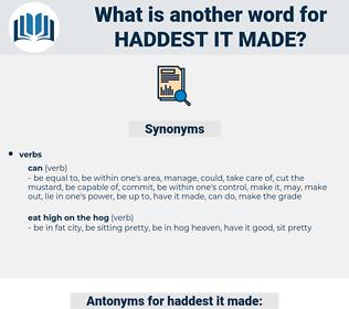 haddest it made, synonym haddest it made, another word for haddest it made, words like haddest it made, thesaurus haddest it made