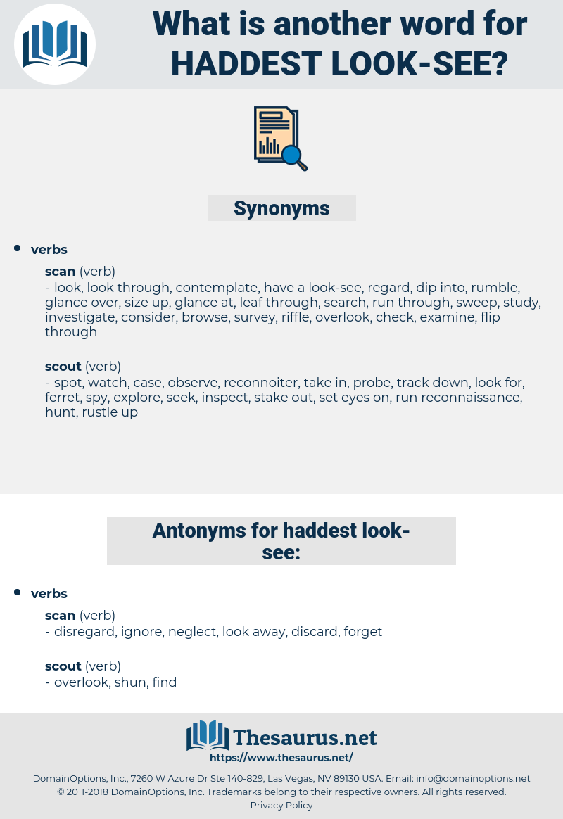 haddest look-see, synonym haddest look-see, another word for haddest look-see, words like haddest look-see, thesaurus haddest look-see