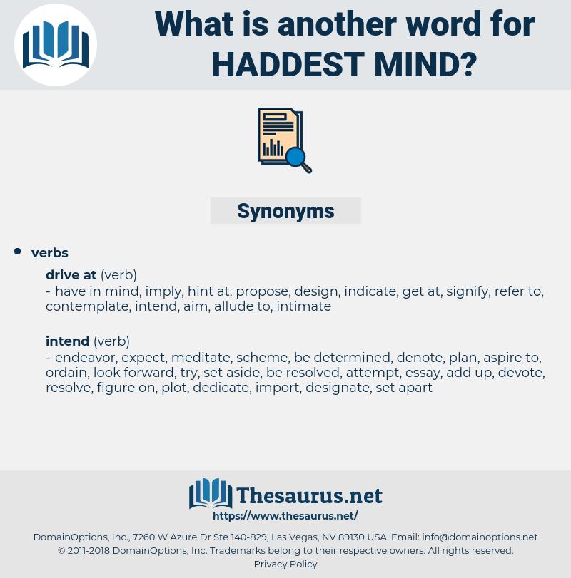 haddest mind, synonym haddest mind, another word for haddest mind, words like haddest mind, thesaurus haddest mind