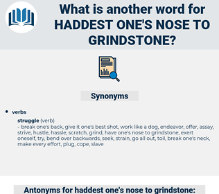 haddest one's nose to grindstone, synonym haddest one's nose to grindstone, another word for haddest one's nose to grindstone, words like haddest one's nose to grindstone, thesaurus haddest one's nose to grindstone