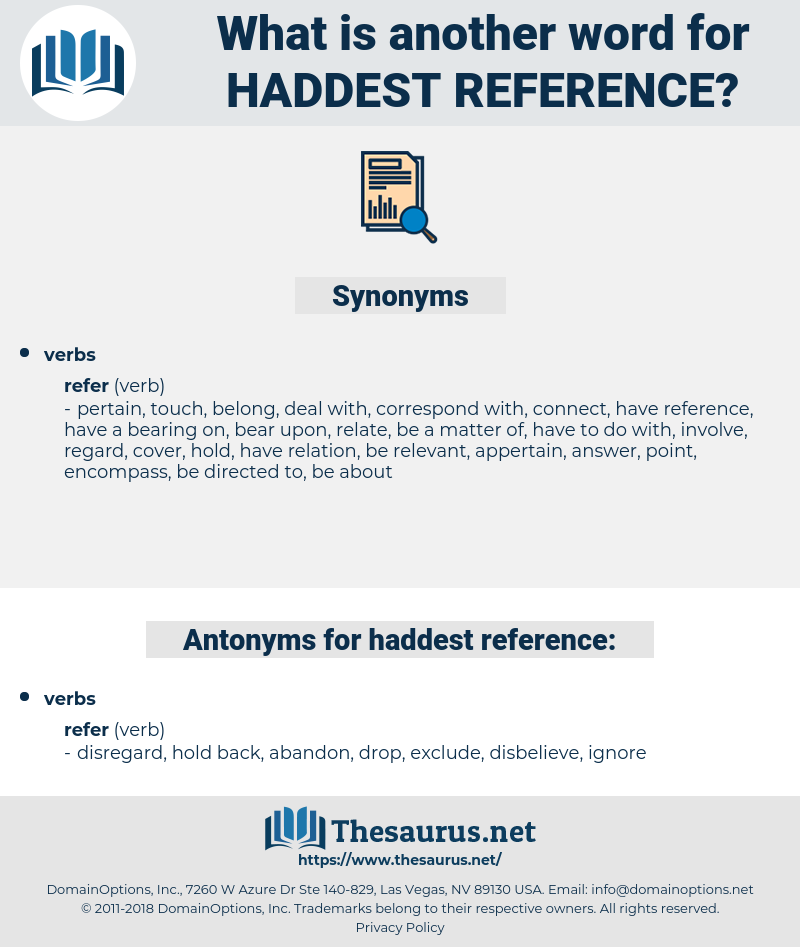 haddest reference, synonym haddest reference, another word for haddest reference, words like haddest reference, thesaurus haddest reference