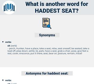 haddest seat, synonym haddest seat, another word for haddest seat, words like haddest seat, thesaurus haddest seat