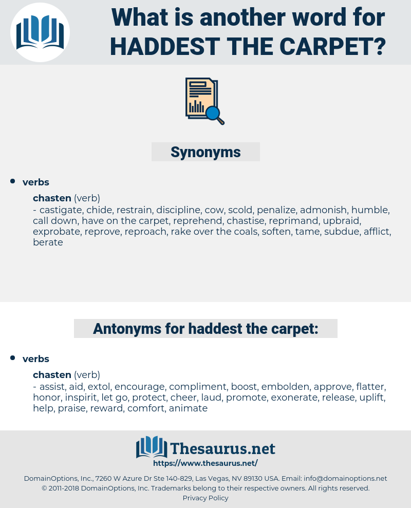 haddest the carpet, synonym haddest the carpet, another word for haddest the carpet, words like haddest the carpet, thesaurus haddest the carpet