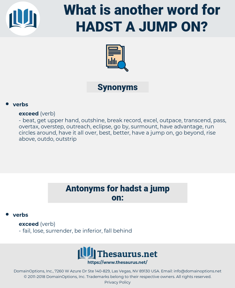 hadst a jump on, synonym hadst a jump on, another word for hadst a jump on, words like hadst a jump on, thesaurus hadst a jump on